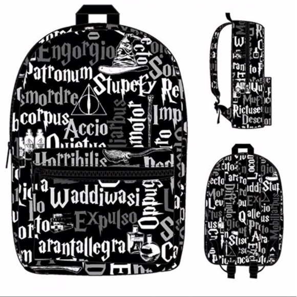 photograph about Printable Harry Potter Spells identify Harry Potter: Spells All Higher than Print Backpack NWT